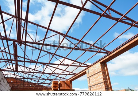 Steel Roof Truss Stock Images Royalty Free Images
