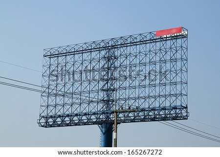 Steel structure billboard - stock photo