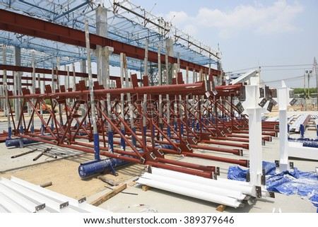 Steel structure roof truss for fireproof paint