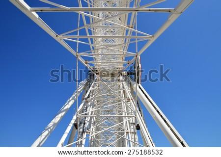 Steel Struts of a Ferris Wheel - stock photo