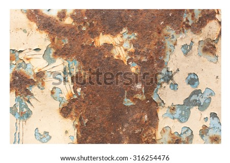 Steel; surface rust that occurs naturally and has a natural beauty and colorful nature created it, but it is harmful.the rust is being wound or wound will do. Tetanus infection can occur