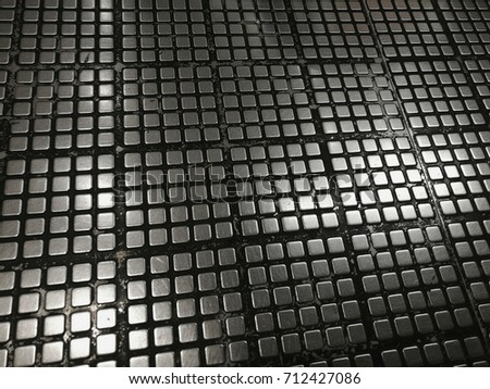 Steel texture with square paterns