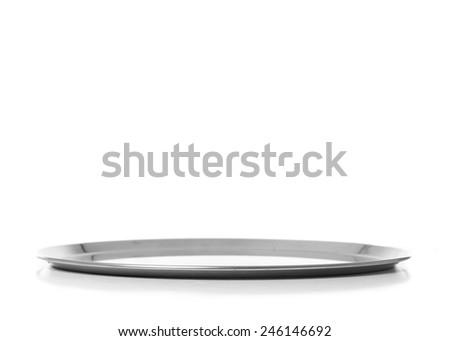 steel tray - stock photo