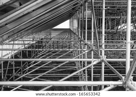 Steel under-supports,  - stock photo