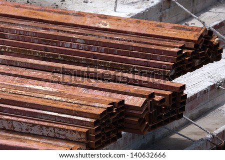 Steel used for construction. - stock photo