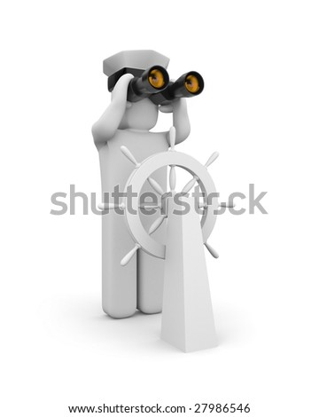 Steersman - stock photo