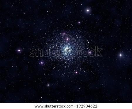 Stellar cluster - stock photo
