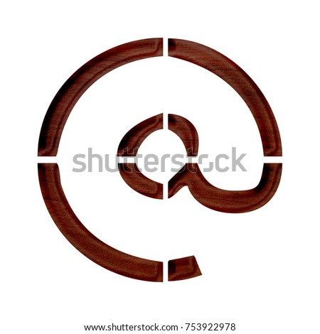 Stencil Style Wooden Sign Email Address Stock Illustration 753922978