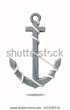 stencil with rope - stock photo