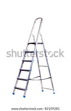 Step - ladder, isolated on white background - stock photo
