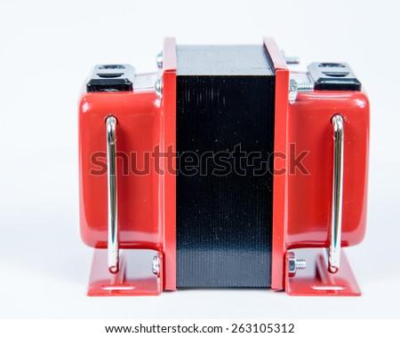 Step up, step down voltage converter, 110V to 220V - stock photo
