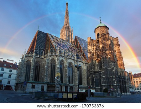 Stephan cathedral in Vienna, Austria - stock photo
