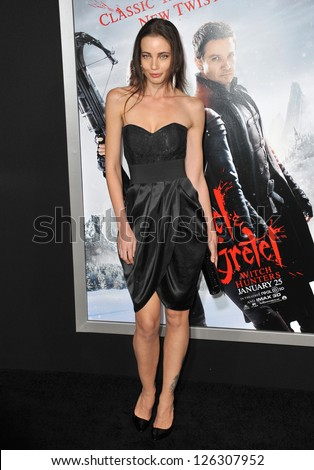 "Stephanie Corneliussen at the Los Angeles premiere of ""Hansel & Gretel: Witch Hunters"" at Grauman's Chinese Theatre, Hollywood. January 24, 2013  Los Angeles, CA Picture: Paul Smith - stock photo"
