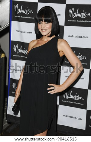 Stephanie Wearing arrives for the Malmaison Hotel Liverpool re-opening party.. 23/09/2011  Picture by Steve Vas/Featureflash