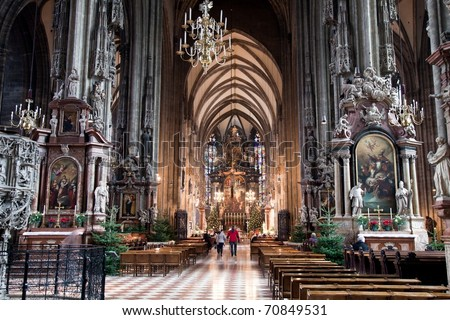 Stephansdom, St. Stephen's Cathedral in Vienna Austria - stock photo