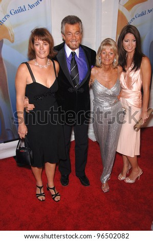 STEPHEN J. CANNELL & wife & daughters at the 2006 Writers Guild Awards at the Hollywood Palladium February 4, 2006  Los Angeles, CA  2006 Paul Smith / Featureflash