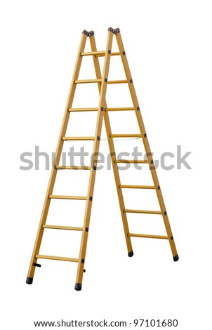 Stepladder  (Clipping path!) - stock photo