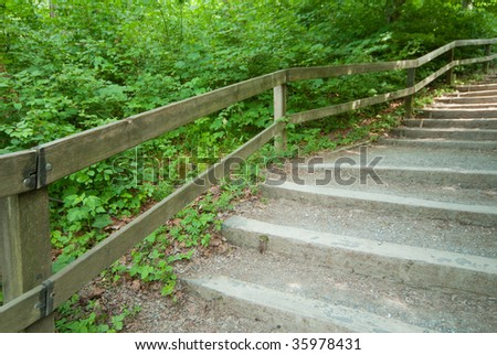 Steps park - stock photo