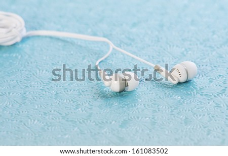 stereo earphone  - stock photo