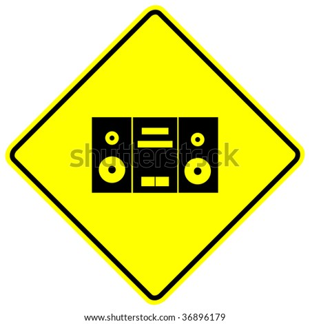 stereo or boom box sign - stock photo
