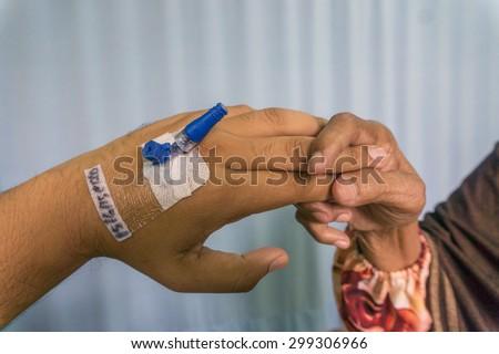 Sterile branula - stock photo