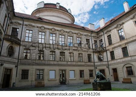 Sternberg palace courtyard in Prague, Czech republic, central Europe. - stock photo