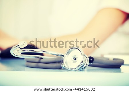 Stethoscope. - stock photo