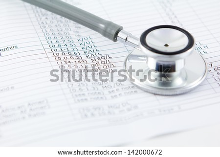 Stethoscope and lab values