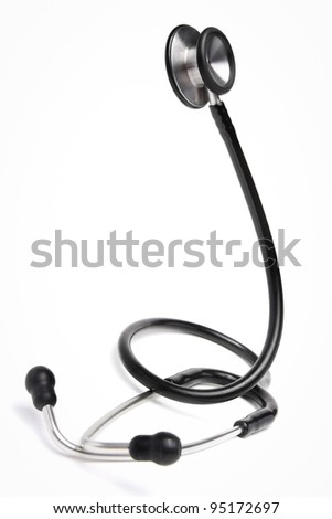 Stethoscope isolated - stock photo