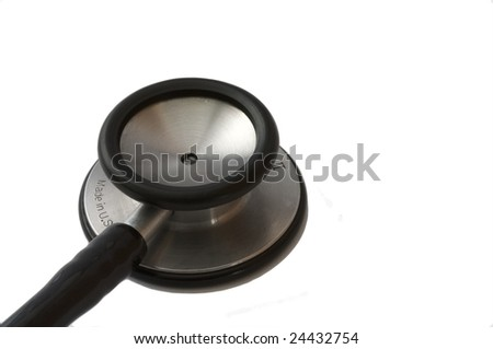 Stethoscope isolated on a white background - stock photo