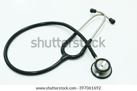 Stethoscope Isolated on the White Background - stock photo