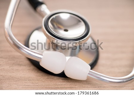 Stethoscope on the office table / Stethoscope