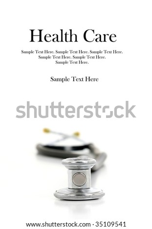 Stethoscope (Text Space Above) - stock photo