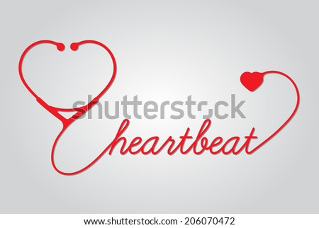 stethoscope with heart, hearthbeat,