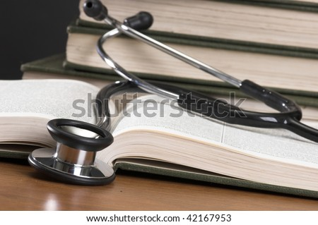 Stethoscope with reference books