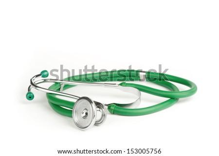 stetoscope isolated on white background - stock photo