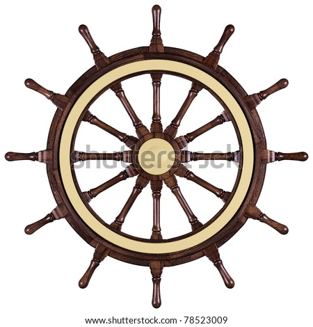 Steuerrad / steering wheel (includes clipping path) - stock photo