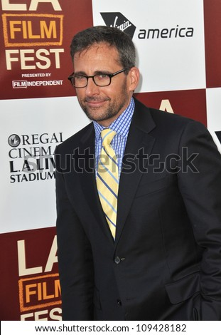 "Steve Carell at the world premiere of his movie ""Seeking a Friend for the End of the World"" at Regal Cinemas LA Live. June 19, 2012  Los Angeles, CA Picture: Paul Smith / Featureflash - stock photo"