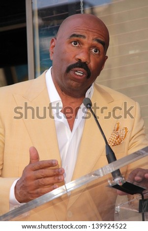 Steve Harvey at the Steve Harvey Star on the Hollywood Walk of Fame, Hollywood, CA 05-13-13