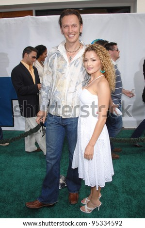 "Steve Valentine & Sylvia DeMarco at the world premiere of ""Evan Almighty"" at the Gibson Amphitheatre, Universal Studios, Hollywood. June 10, 2007  Los Angeles, CA Picture: Paul Smith / Featureflash"