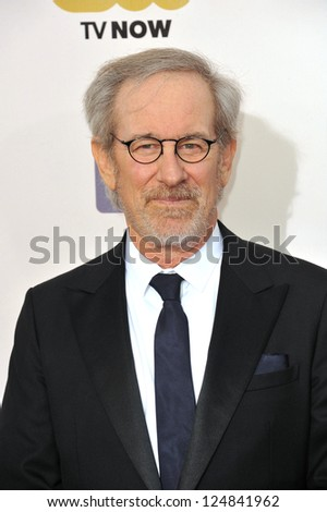 Steven Spielberg at the 18th Annual Critics' Choice Movie Awards at Barker Hanger, Santa Monica Airport. January 10, 2013  Santa Monica, CA Picture: Paul Smith - stock photo