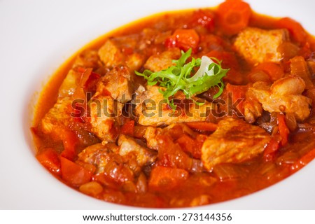 Stew meat and vegetables - stock photo