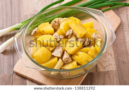 stewed potatoes with chicken