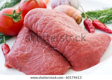 Stewing Steak - stock photo
