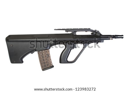 steyr assault rifle isolated on a white background