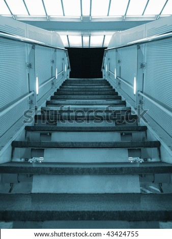 stiarcase in underground - stock photo