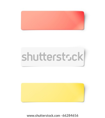 Sticker notes isolated - stock photo