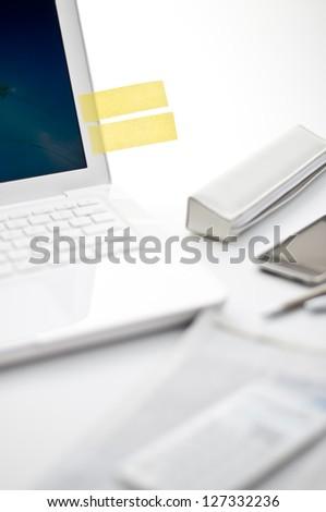 Sticky note - stock photo