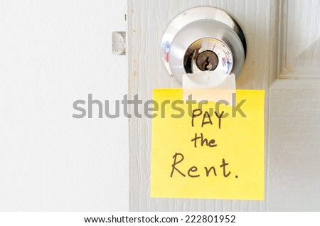 sticky note write a message pay the rent on the latch door  sc 1 st  Shutterstock & Pay Rent Stock Images Royalty-Free Images u0026 Vectors | Shutterstock pezcame.com