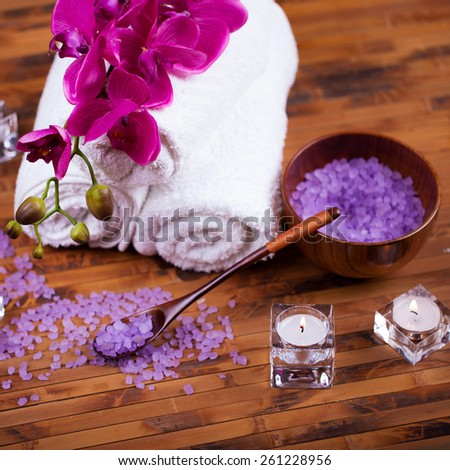 Still for spa treatments, body care